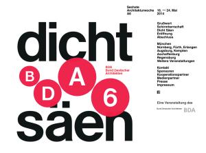 A6 Architekturwoche München