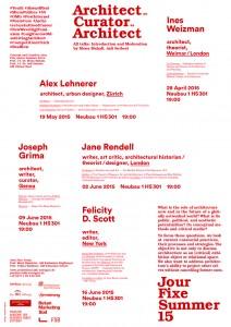 """""""Architect as Curator as Architect"""", talk at Akademie der Bildenden Künste, Stuttgart"""
