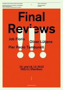 Final Reviews: Bei der Arbeit